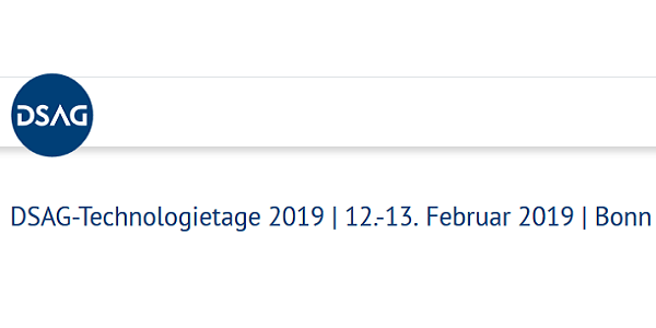 DSAG-Technologietage 2019 am 12.+13.2. in Bonn (Save-the-Date)